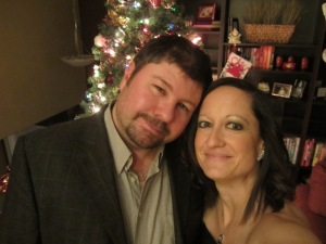 My loving husband and I. He always reminds me what a procrastinator I can be!