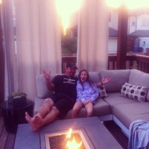 Chillaxing in our outdoor living room. Best September ever!