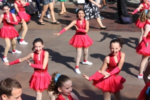 Our Dancing Girl in the California Adventure Pixar Parade :)